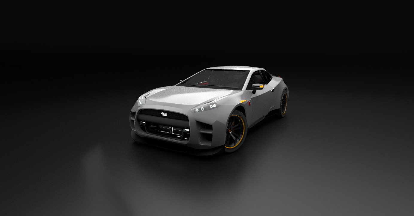 free byakko gtr car 3d model