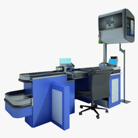 3d counter cash shop