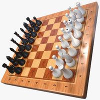 chess set 3d max