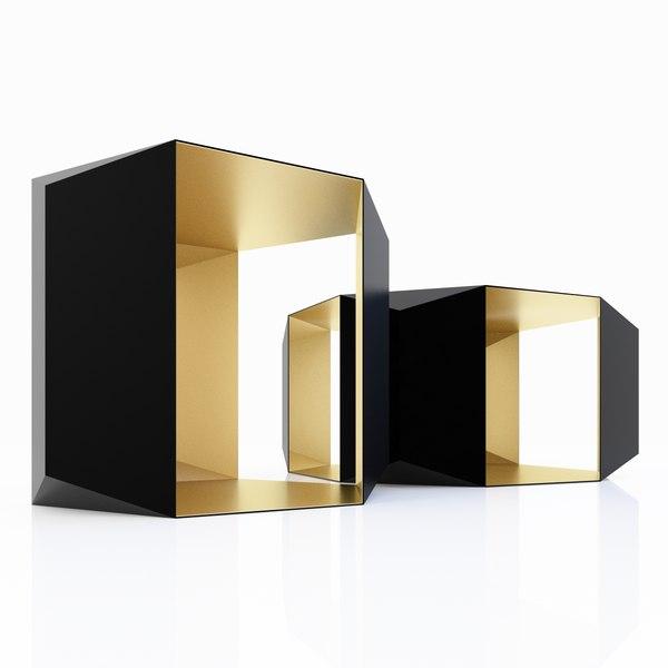 3d donghia origami tables model