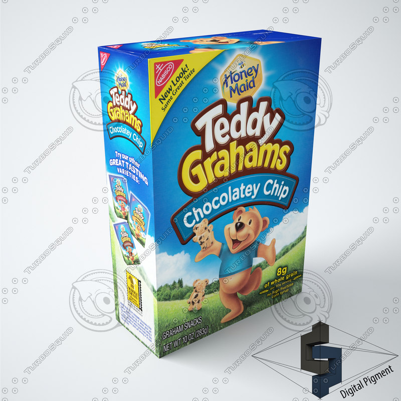 3d 3ds teddy grahams chip