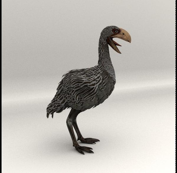gastornis bird 3d model