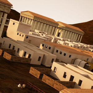 town greek roman arab 3d max