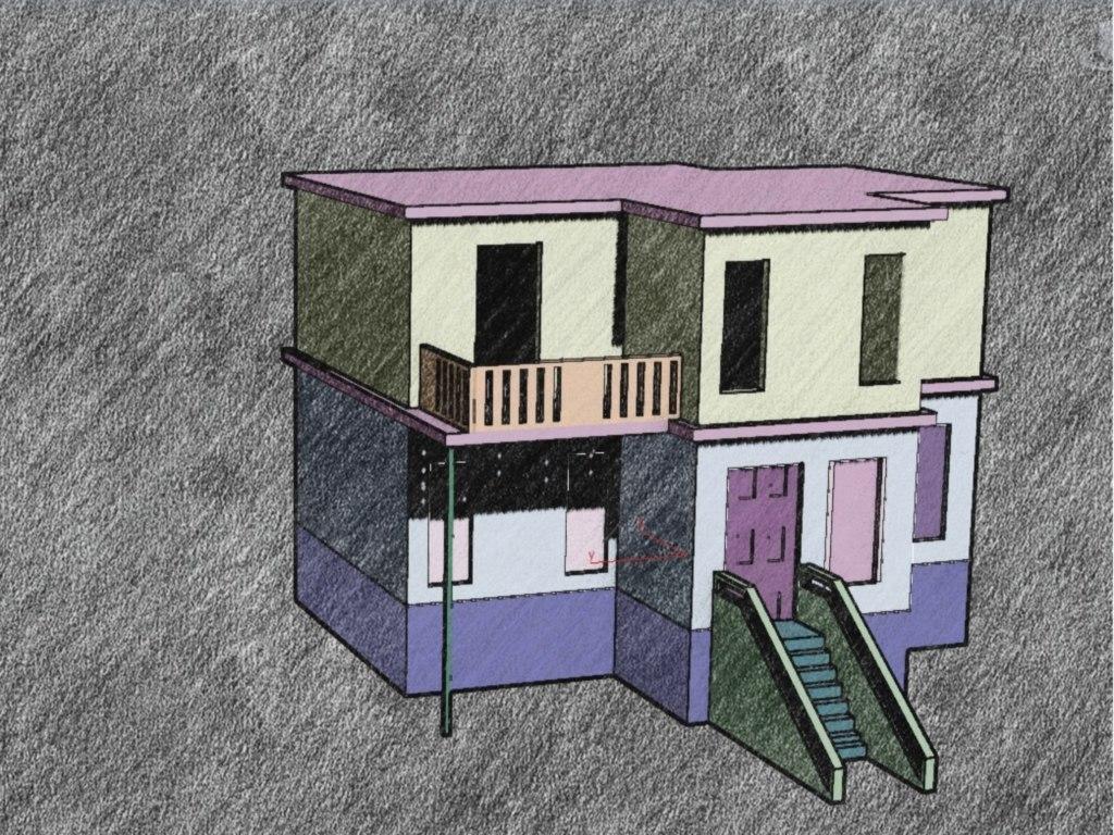3d house suburban model