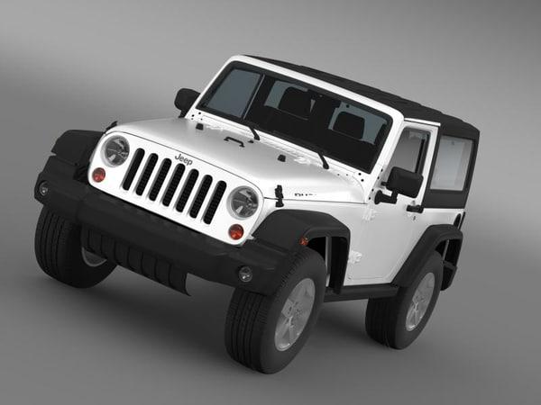 3d model jeep rubicon 2012 wrangler