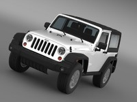 3d model jeep rubicon 2012 wrangler