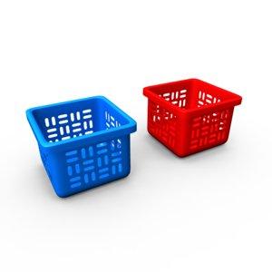 laundry basket 3d ma