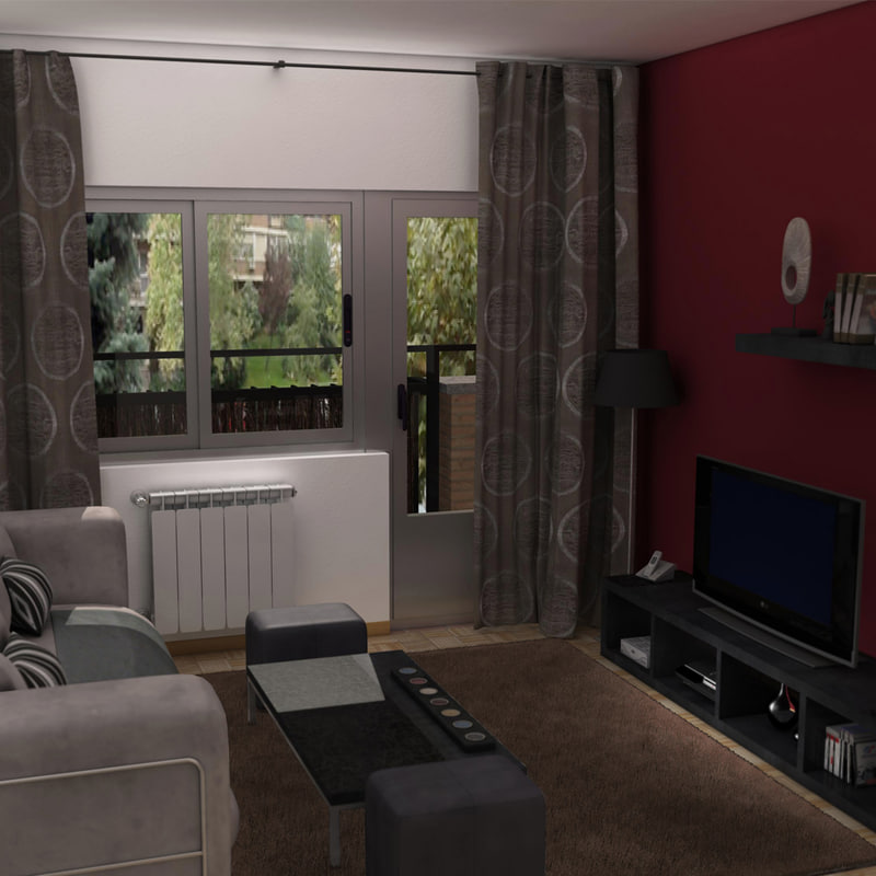 3d c4d living room