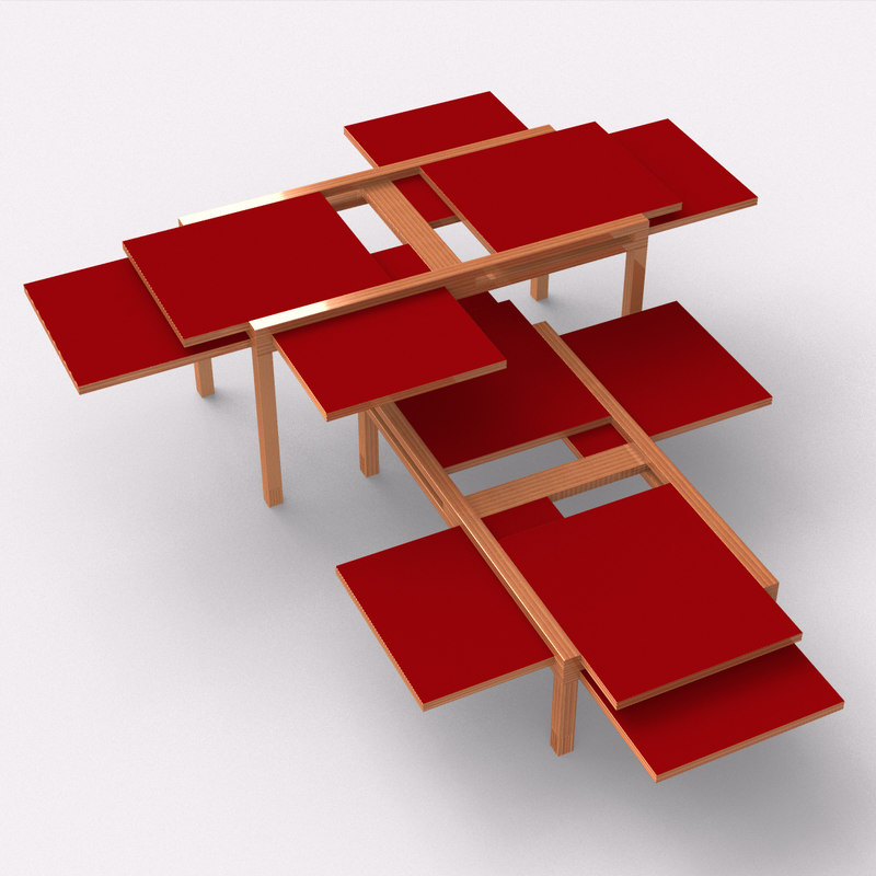 sculpture par6 coffee table 3d model