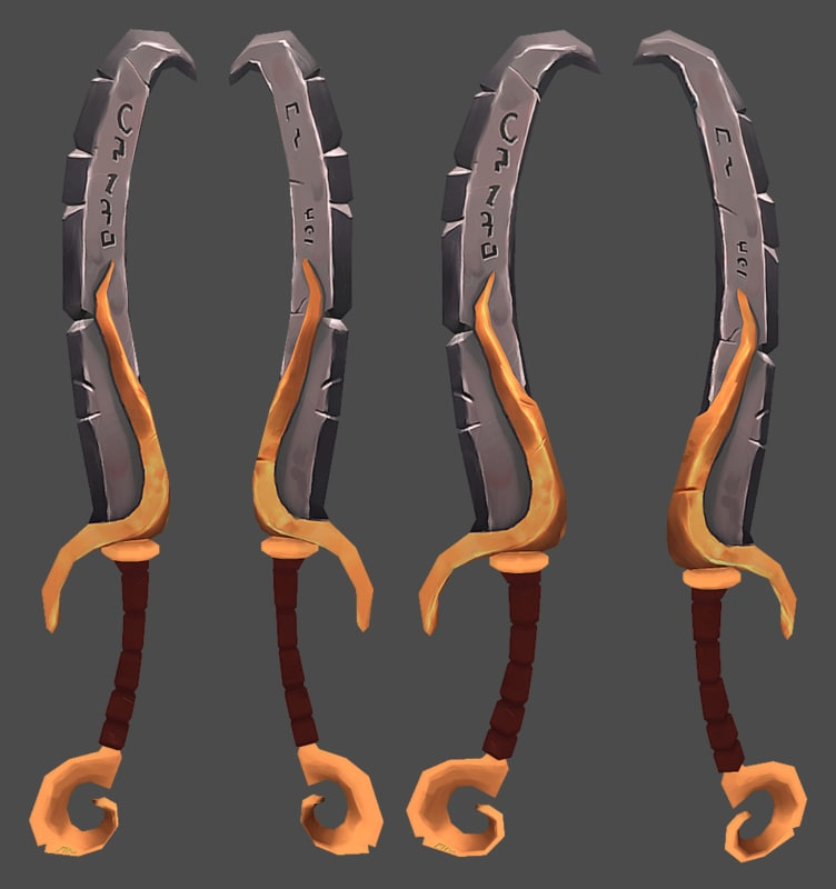 3d model stylized sword