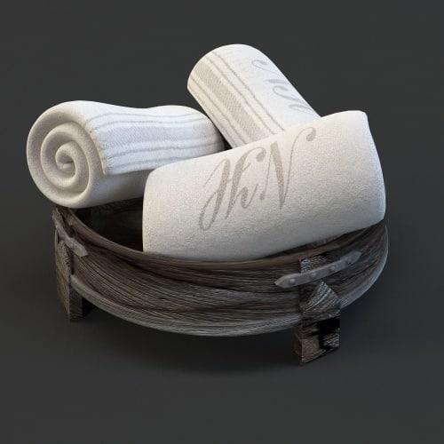pool towel tray c4d