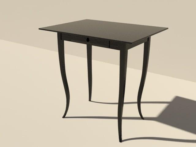 table black wood 3d model