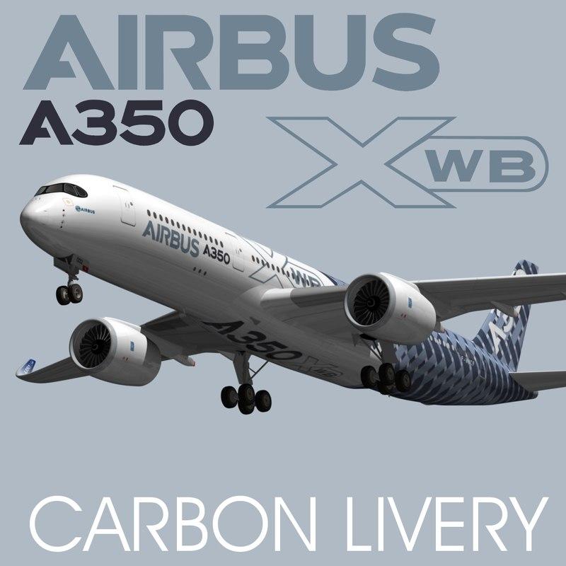 airbus a350 xwb carbon 3d max