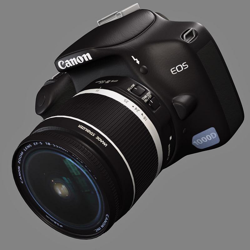 3d canon 1000d digital camera
