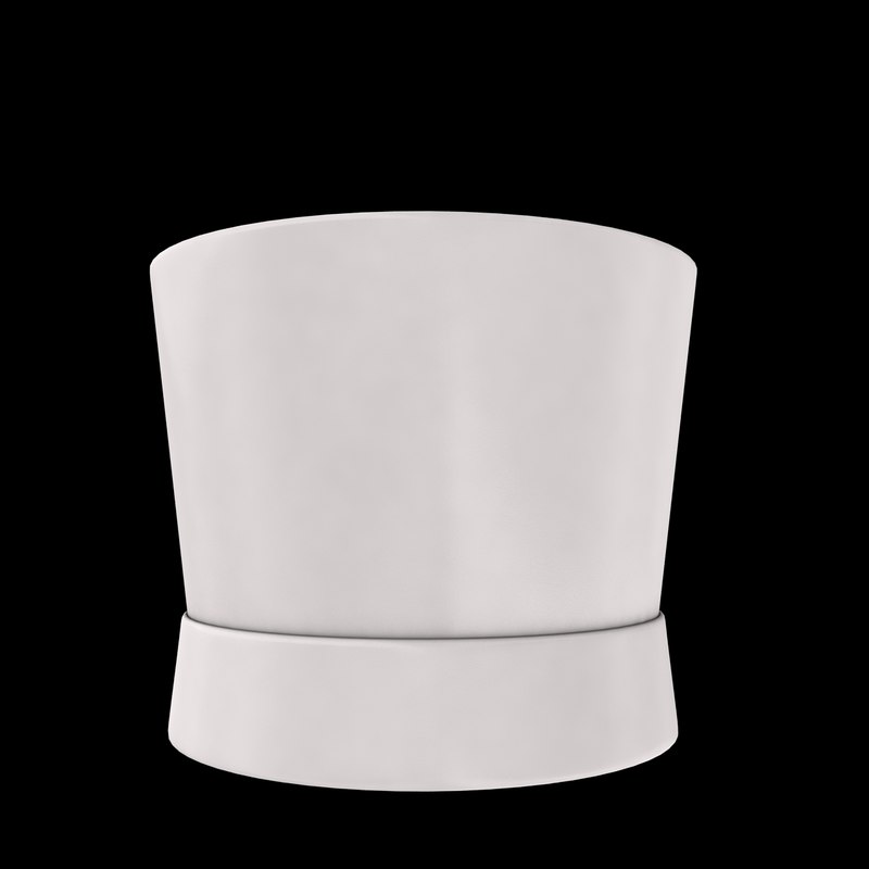 chef hat 3d 3ds