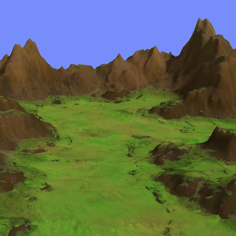 grassy terrain dm-02 3d model