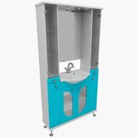 3d max bathroom furniture
