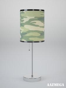 3d model military lamp