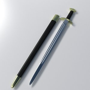 3d viking sword