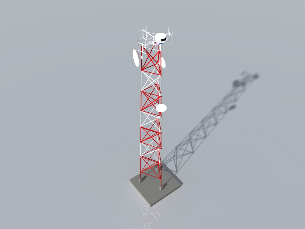 3d model radio tower