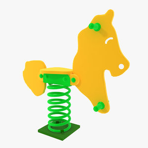 playground spring swing horse 3ds