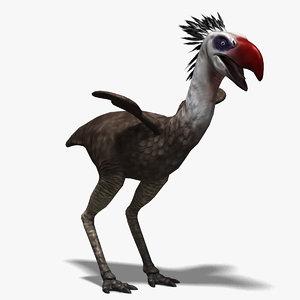 3d model phorusrhacos terror bird