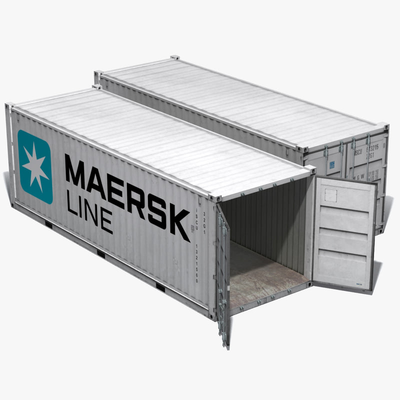 realistic freight container max