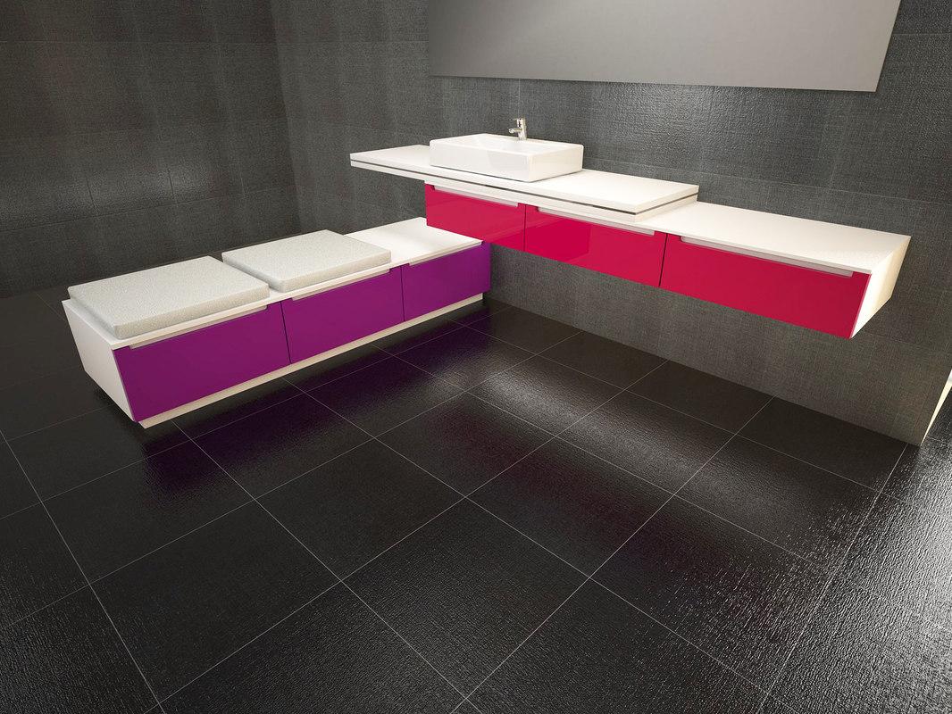 3d design bathroom cabinet