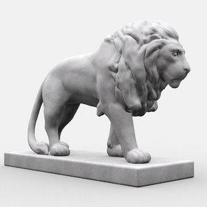 3d model statue lion