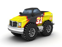 3d model cartoon monster truck
