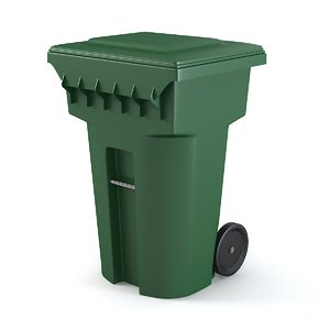 3d model container waste trash