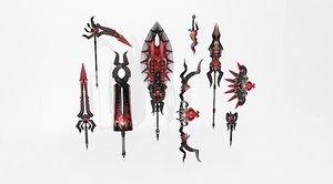 3d swords blade knife model