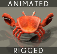 Crab Animated 4 texture bumpmap