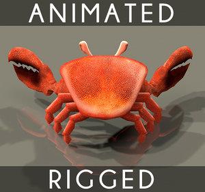 3d model crab 4