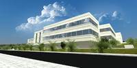 3d commercial building model