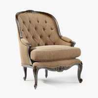 century tufted french chair 3d max