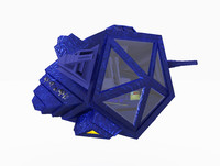 3d model fighter space ship