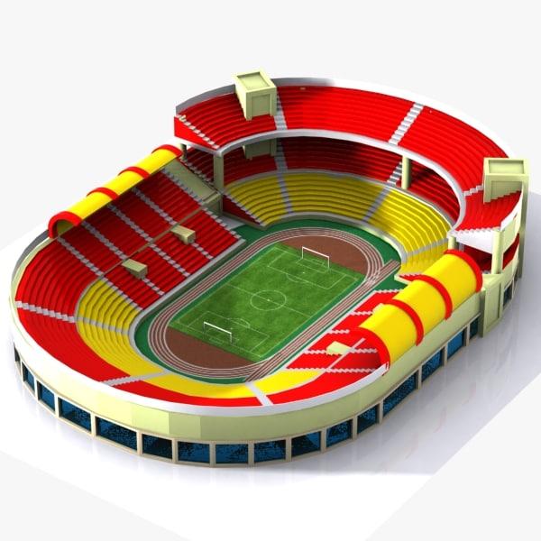 3d cartoon stadium toon