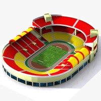 3d cartoon stadium toon