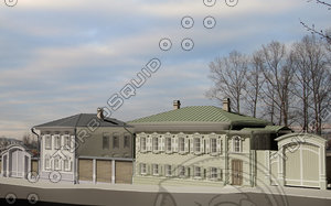 monuments wooden architecture 3d max
