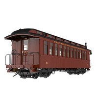 "Railroad Passenger Car (Coach); ""D&RG Narrow Gauge"