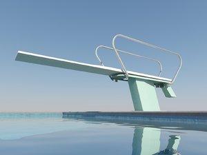 1 meter diving board max free