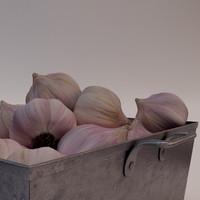 3ds max bowl garlic
