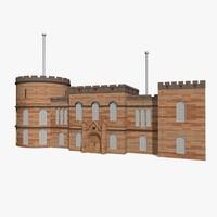 3d model castle house