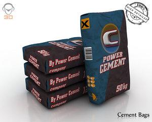 3d 3ds cement bags