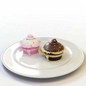 3d model cupcake 26