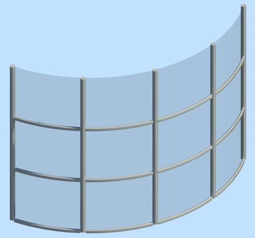 curtain wall curved 3d model
