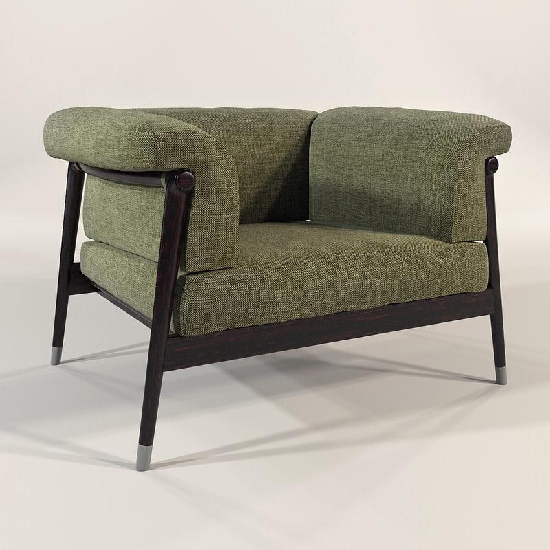 3d model giorgetti - derby chair