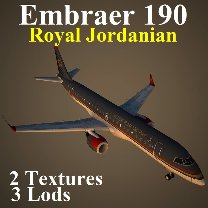 3d model embraer rja
