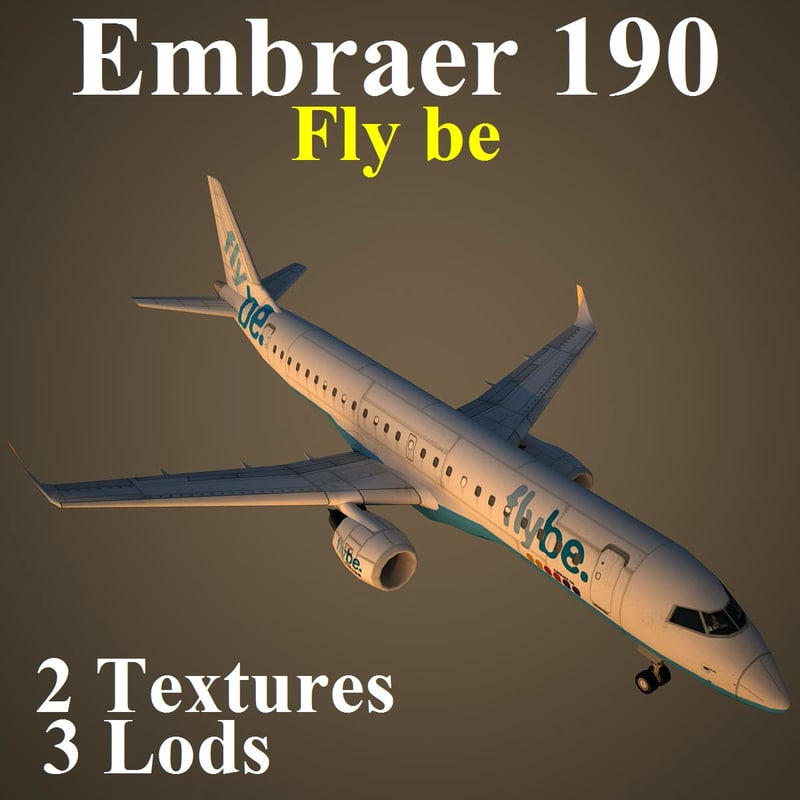 embraer bee 3d model